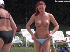 Sexy Topless Beach Teen Girls Voyeur HD Video Teaser II