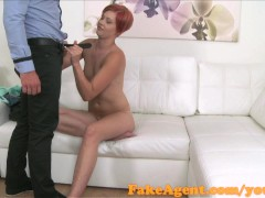FakeAgent Horny waitress sucks and fucks in office interview