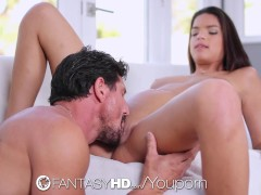FantasyHD - Hot Carrie Brooks enjoys being fed fruit while being fucked