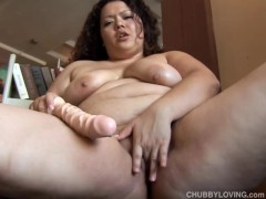 Lovely latina BBW thinks of you fucking her fat juicy pussy