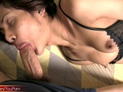 Ladyboy beauty with puffy nipples loves gaping anal fucking
