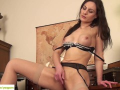KarupsOW - Michelle Khan Naked At Office Desk