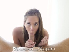 Passion-HD - BlowJob and Fleshlight fun under the sheets with Molly Manson