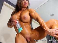 EroticMuscleVideos Oiling Sensual Female Muscles