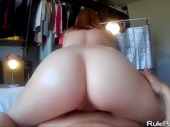 HD Porn With A Round Ass Redhead