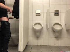Pissing in the men's room NOT in the urinals - but first a bit of dick fun