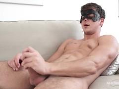 Maskurbate Masked Hunk Shows off Hard Cock