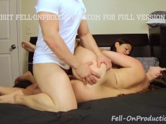 Two Hot MILF's Taboo Fucking Threesome Creampie Step Son Step Mom