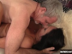 Big dicked older man fucks mature woman