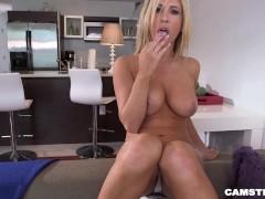 Sexy Big Tits Pornstar Tasha Reign Masturbating for Camster
