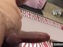 Shemale Mel Almeida cum in her mouth and asshole