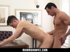 MormonBoyz-Hung muscle daddy breeding young guy at church