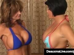 Texas Mega Milf Deauxma Vs Cali Diva Shay Fox In Boob Fight!