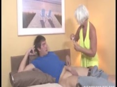 Sexy granny handjob