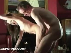 horny daughter analisse fucked by father