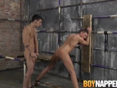 Billy Rock plows submissive butt buddy David Paw