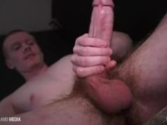 Straight dad milks a big load on camera