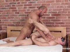 Straight Hunk Tricked into Bareback by Muscle Daddy