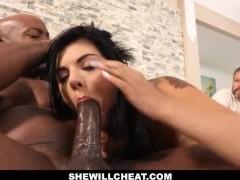 SheWillCheat- Gina Valentina Fucks BBC While Husband Watches