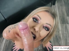 First Class POV - Watch Karma Rx take her mouth and pussy full of dick