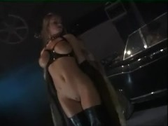 Orgy for a group of maniacs in latex dress