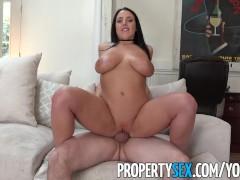 PropertySex - Busty tenant addicted to sex fucks landlord