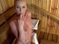 POV Sauna Blowjob Makes Kathia Nobili Suck Loads Of Sperm
