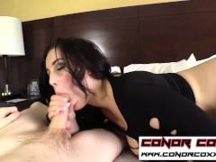 ConorCoxxx-All natural cock worship blowjob from busty babe Noelle Easton
