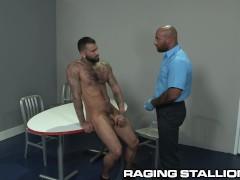 Hairy Black TSA Daddy Does Full Body Search On Sexy Latino Boy