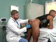 MenOver30 Beefcake Doctor gives Hung Hunk Rectal Exam!