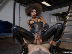 VRCosplayX.com Ebony Babe Domino Testing Your Superpowers In Deadpool XXX