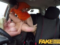 Fake Driving School Busty horny blonde needs ...