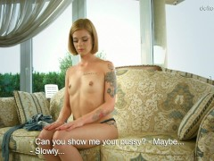 Alexa Glukoza. The 18 Year Old Virgin Shows Her Hymen And Then Masturbates In Front Of The Camera!