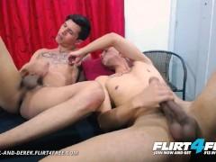 Danniel and Derek on Flirt4Free - Big Dicked Latino Twinks Enjoy Rough Barebacking and Rimming
