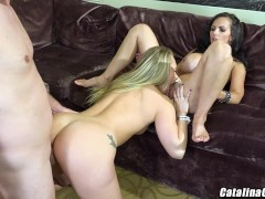 Catalina Cruz and AJ Applegate have a big booty threeway