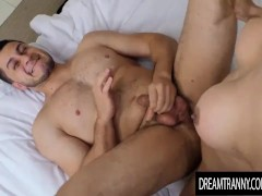 Lustful Tgirl Crystal Delicia Sucks a Guys Cock Before Drilling His Asshole