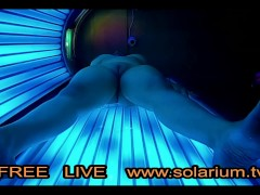 masturbating in real public tanning salon on tanning bed, reallifecam under tanning bed.