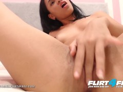 Flirt4Free Model Angiie Gomez - Petite Latina w Great Perky Tits Fingers Her Tight Wet Pussy