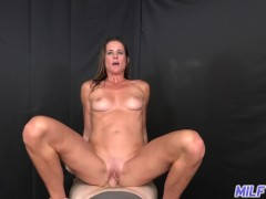 MILF Trip - Big shot of cum to the face for athletic MILF - Part I