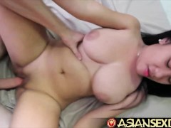 Asian Sex Diary - White cock fucks Asian babe with sensational tits