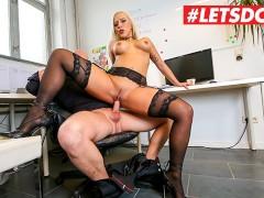 LETSDOEIT - Shy Secretary Pussy Destroyed by Co-Worker