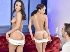 StepSiblings - Horny Stepsisters Compete For Cock