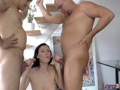 British mature DP fucked by old guys