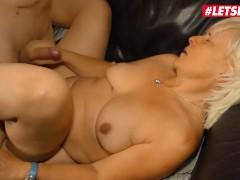 LETSDOEIT - Horny Granny Takes On Her Step Nephew's Cock