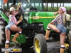 BANGBROS - Big Booty Farmin' Throwback Featuring Isabel Ice & Jordan Ashley