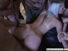 Mass impregnation at Czech Gang Bang Party