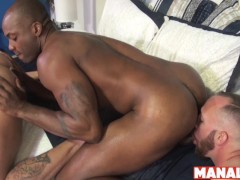 MANALIZED Sean Duran Cums And Interracial Double Penetration