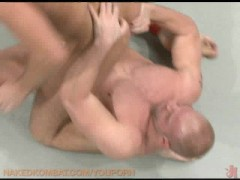 Two muscular studs fight and fuck