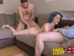 FakeAgentUK Threesome for horny couple want to fuck on camera in UK porn casting