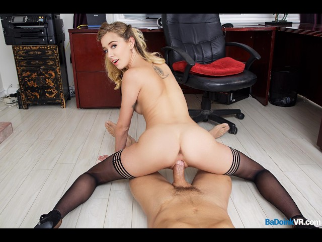 image Badoinkvrcom pov office fuck with hot blonde haley reed